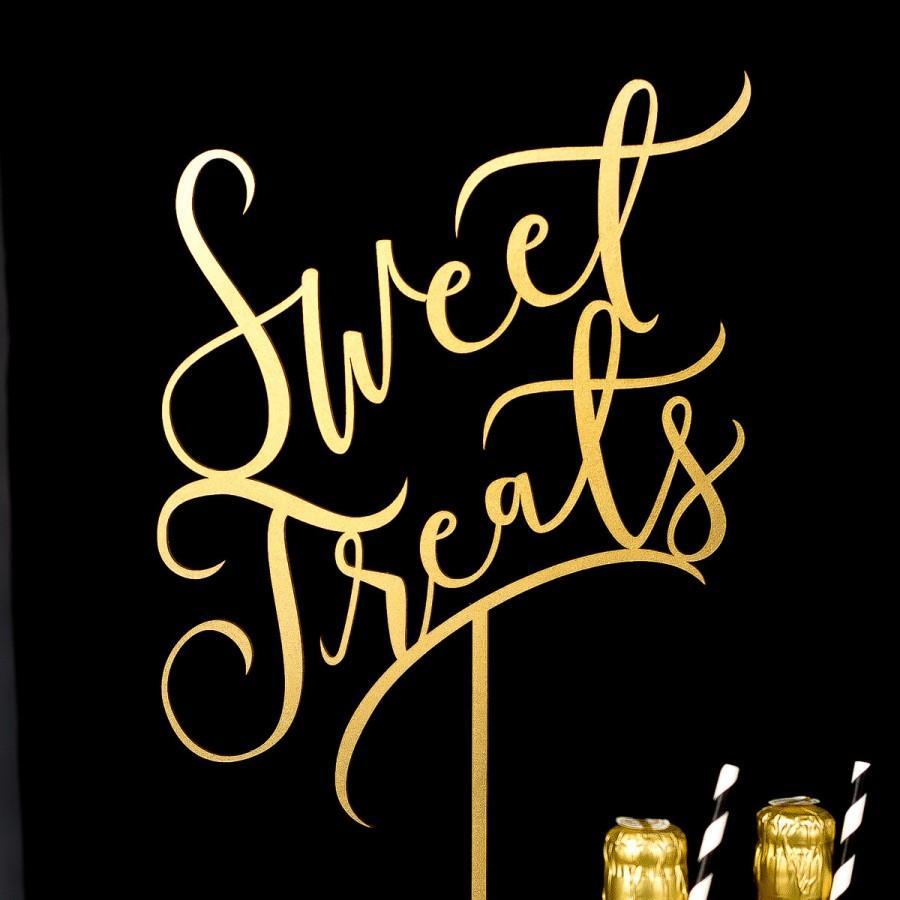 Mariage - Wedding Sign - Sweet Treats Dessert Table Sign - Joyful Collection