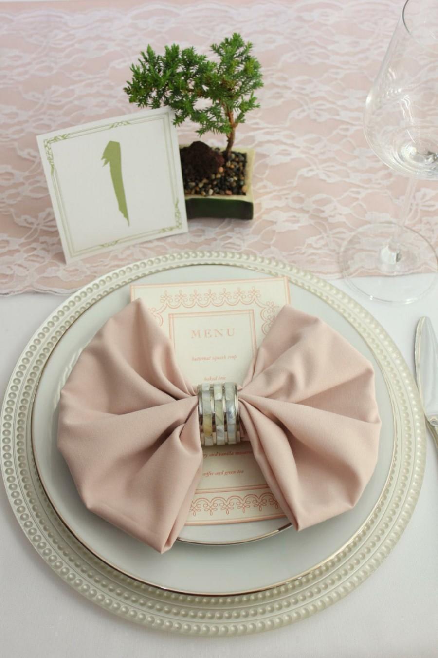 Свадьба - Blush Napkin for Weddings, 20 inch Blush Napkins