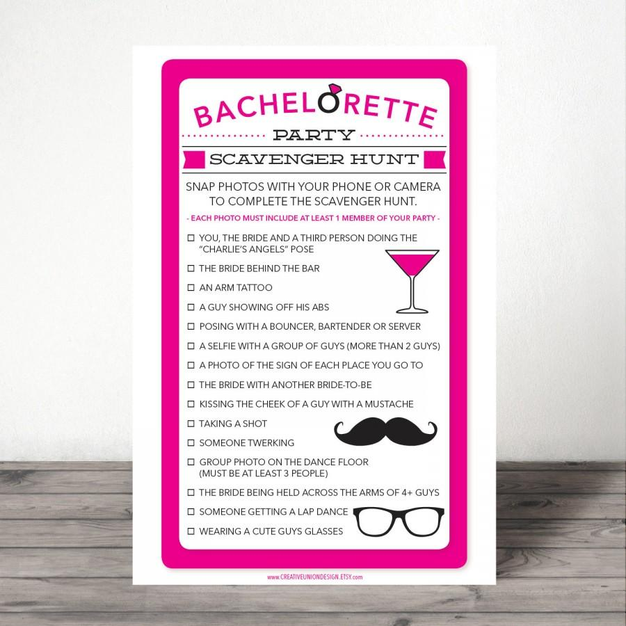 bachelorette scavenger hunt - bachelorette party game - bachelorette