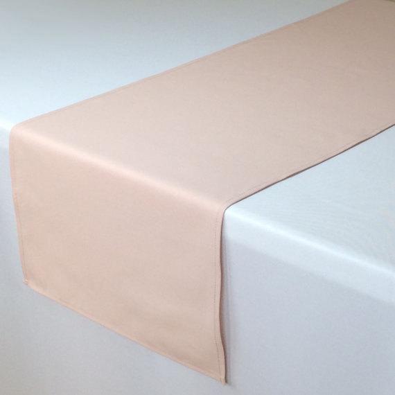 Свадьба - Blush Table Runner 14 X 108 inches, Wholesale Table Runners for Rose Quartz Weddings, Blush Weddings, Table Decorations, Wedding Table Decor
