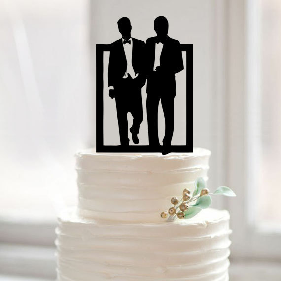 Same Sex Wedding Gift Ideas: Same Sex Cake Topper,gay Cake Topper For Wedding,wedding