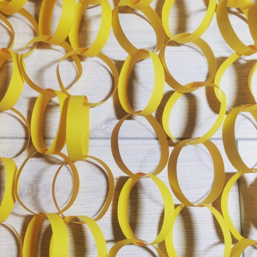 Hochzeit - Yellow Paper Garland Set, Wedding, Party, Birthday, House Decoraion
