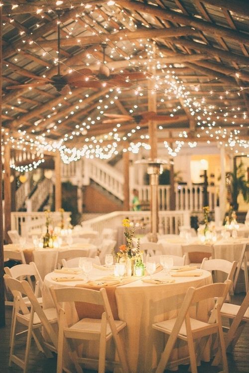 Country wedding reception ideas burlap for the table runners and country wedding reception ideas burlap for the table runners and xmas lights all over the pavilion junglespirit Images