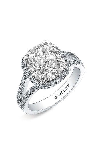 Mariage - Women's Bony Levy Pave Diamond Leaf Engagement Ring Setting (Nordstrom Exclusive)