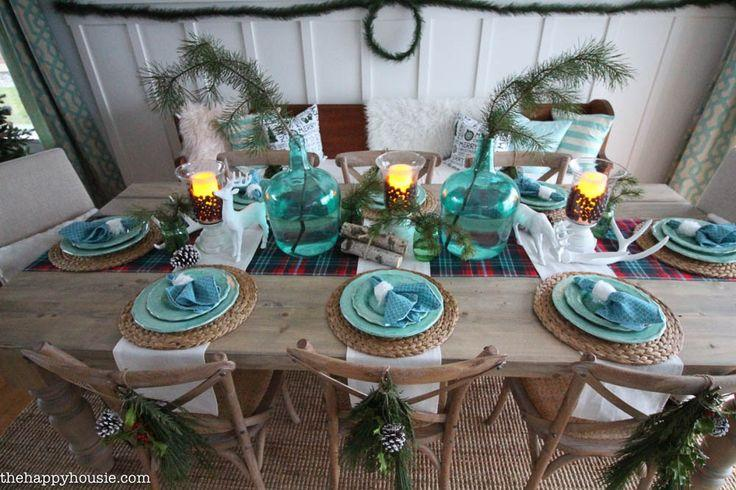 Mariage - Lake Cottage Style Christmas Tablescape {& Giveaway