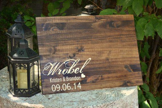Rustic Wedding Guest Book, Wood Guest Book, Rustic Wedding, Guest ...
