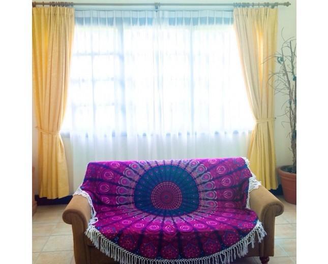 Wedding - Indian Mandala Tapestry Round  Yoga Mat