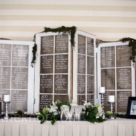Свадьба - Seating Arrangement Display