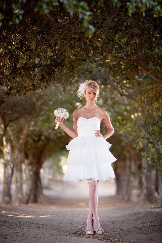 Alvina Knee Length Wedding Dress Reception Dress Garden Wedding