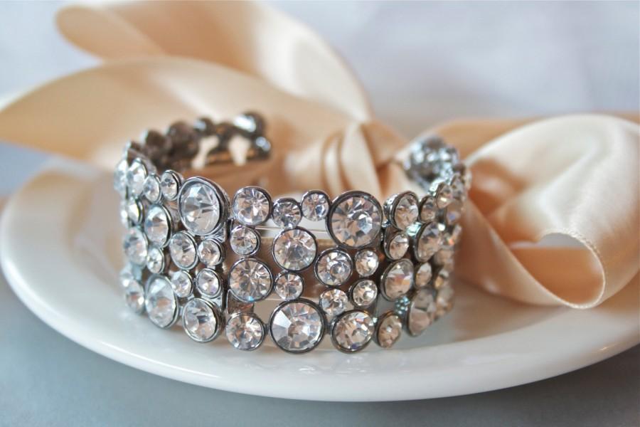Bridal Cuff Bracelet, Crystal Bracelet, Elegant Ribbon Bracelet, Bridal  Jewelry Trends 2015, Ribbon Bracelet, Cuff Bracelet, Bridal Jewelry