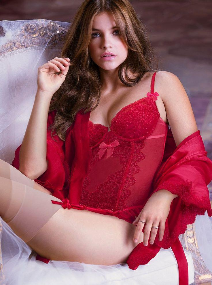 lingerie Barbara palvin red
