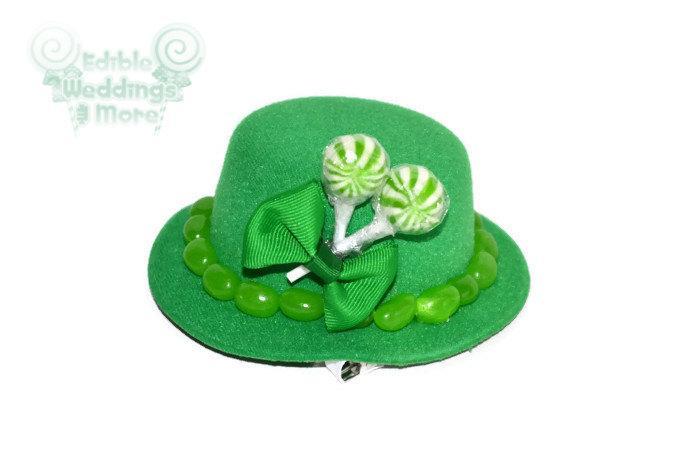 Wedding - Mini Green Candy Top Hat, Veil, Bridesmaid, Candy, Green, Mini Top Hat, Wedding, Bridesmaid, Candy Top Hat, Green Wedding, Bridal Party