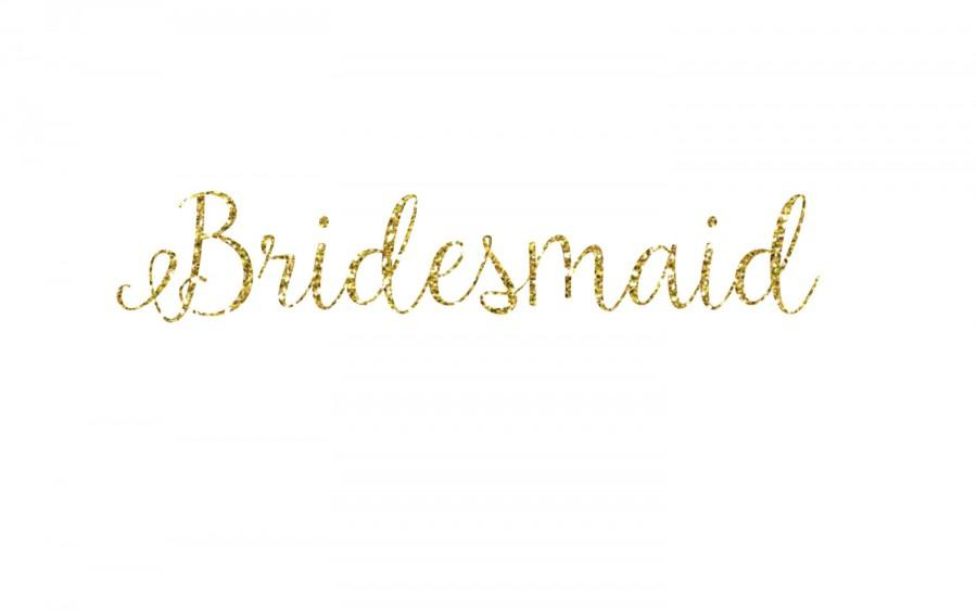 Mariage - DIY Bridesmaid Glitter Iron-On Vinyl Decal - Glitter Decal - 5 Colors - Bridesmaid Shirt - DIY Bridal Party Gift - Bachelorette Party