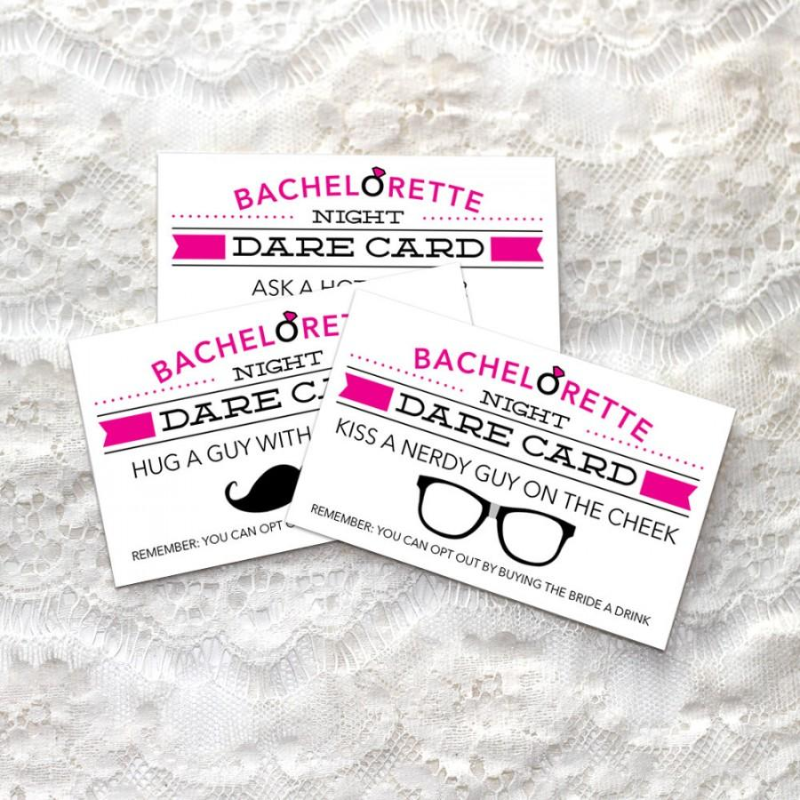 Свадьба - Bachelorette Dare Cards - Bachelorette Party Game - DIY - Printable Game - Bachelorette Party - Dare Game - Instant Download