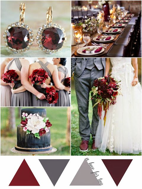 Marsala Pantone Inspired Wedding Colour Scheme #2478112 - Weddbook