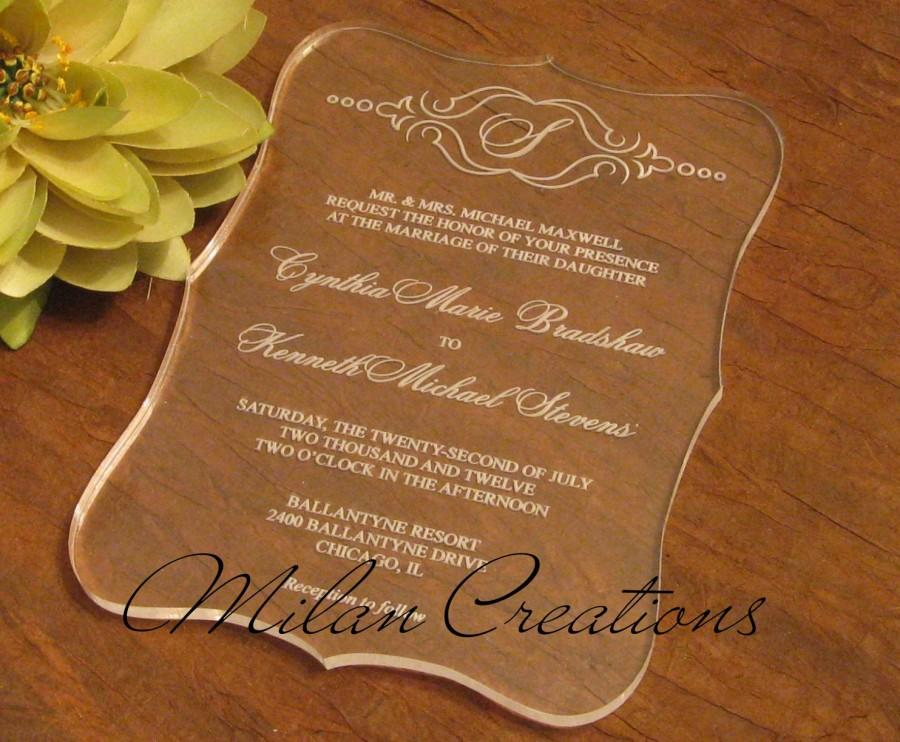 Mariage - Sample Acrylic Wedding Invitation 5x7