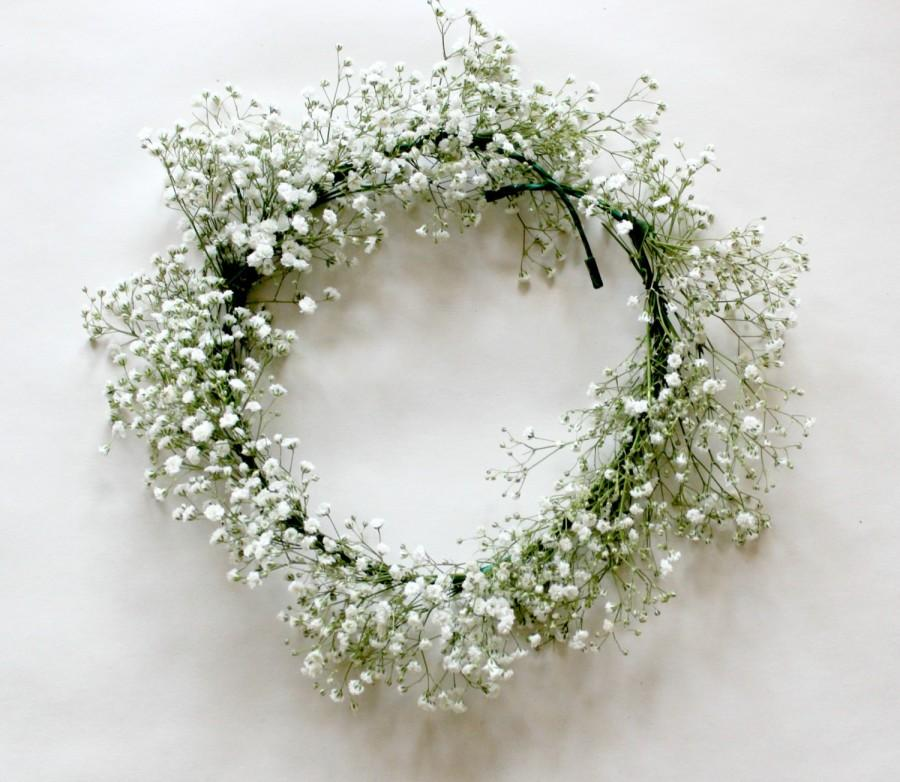 Mariage - FRESH Baby's Breath Floral Crown