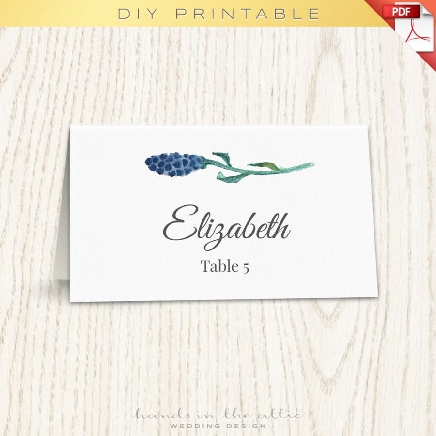 Floral wedding placecard template printable escort cards for Wedding place name cards