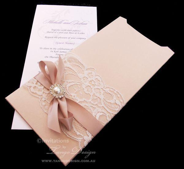 a vintage brooch invitation lace sophie invitations with wedding