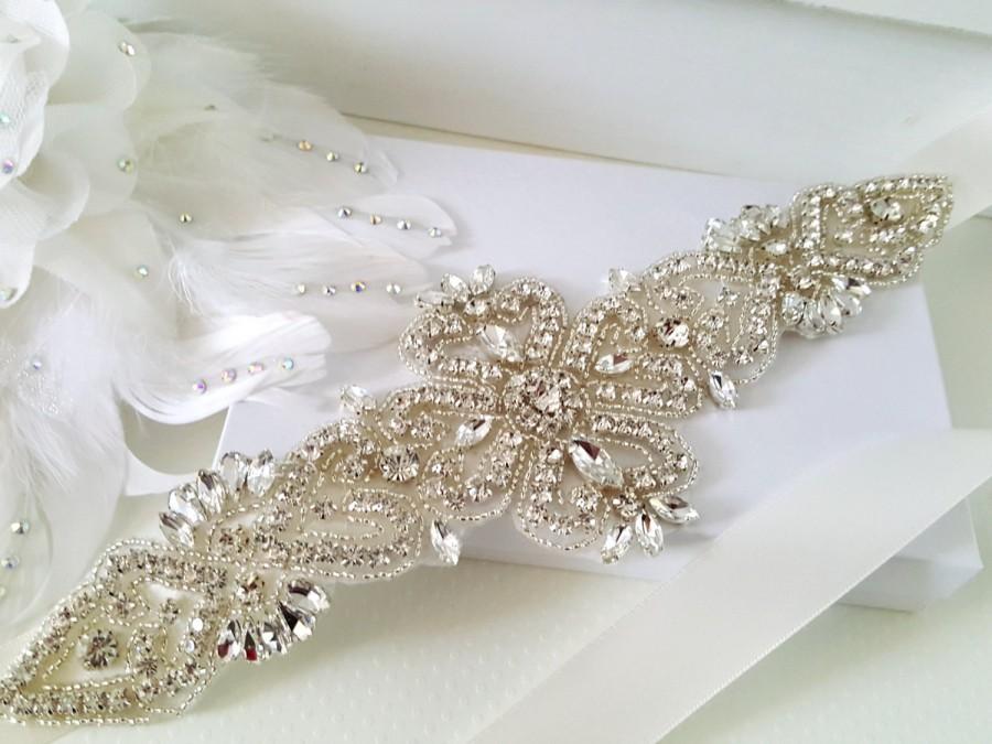Mariage - Wedding Belt, Bridal Belt, Sash Belt, Crystal Rhinestone Belt, Style 182