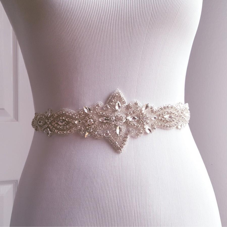 Boda - Wedding Belt, Bridal Belt, Sash Belt, Crystal Rhinestone Belt, Style 180