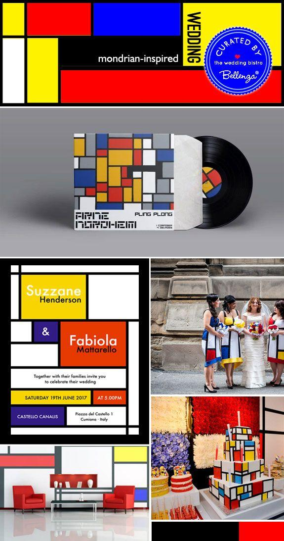 Свадьба - Art Theme Wedding Series: Mondrian-inspired Wedding Style