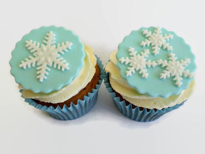 Winter Frozen Party Cupcake Snowflake Fondant Toppers ...