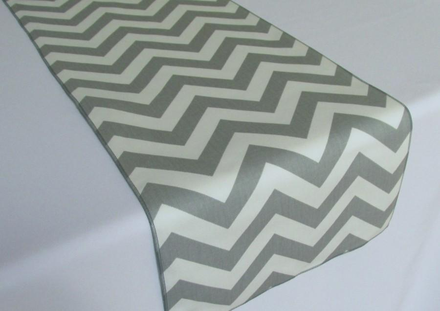 Gray And White Chevron Table Runner Select A Size