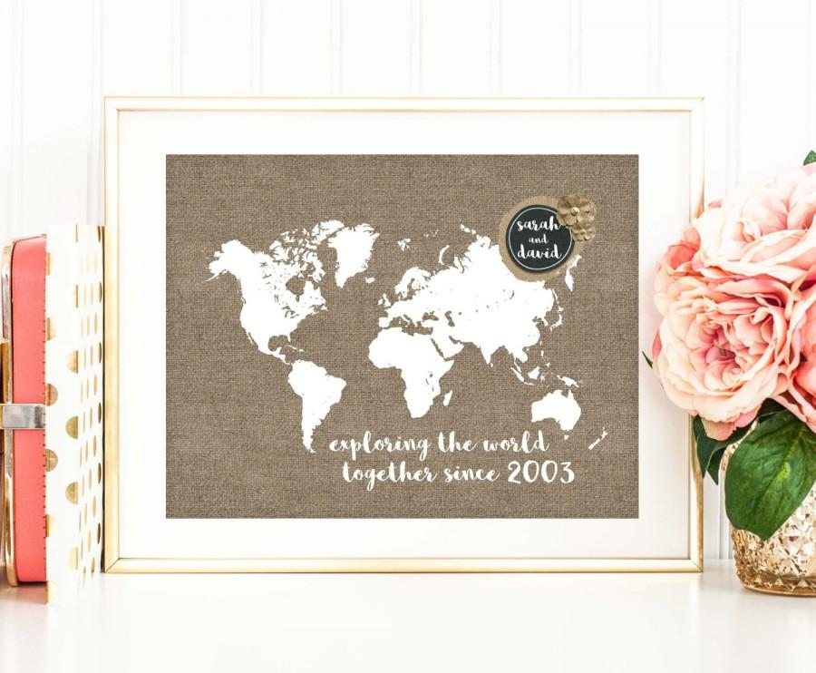 Personalized Country Wedding Gifts: Personalized Wedding Map Print, Travel Poster, Destination