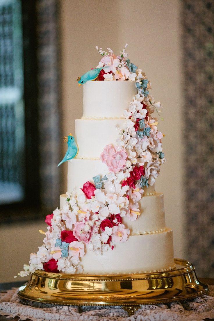 Свадьба - Whimsical Floral - Fairytale Wedding Cake