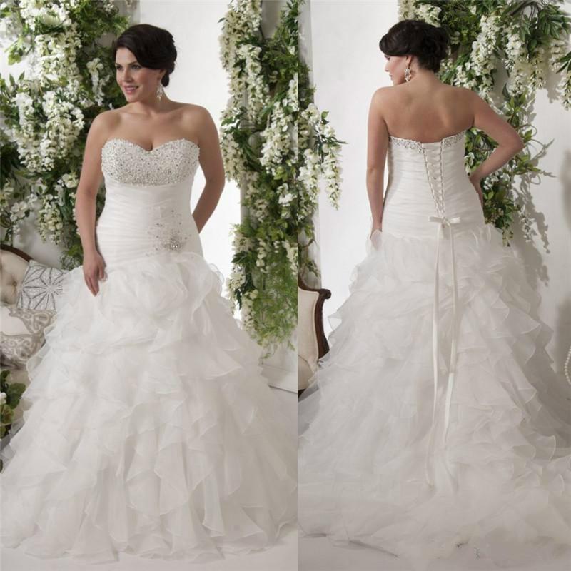 sweetheat ruffles wedding dress