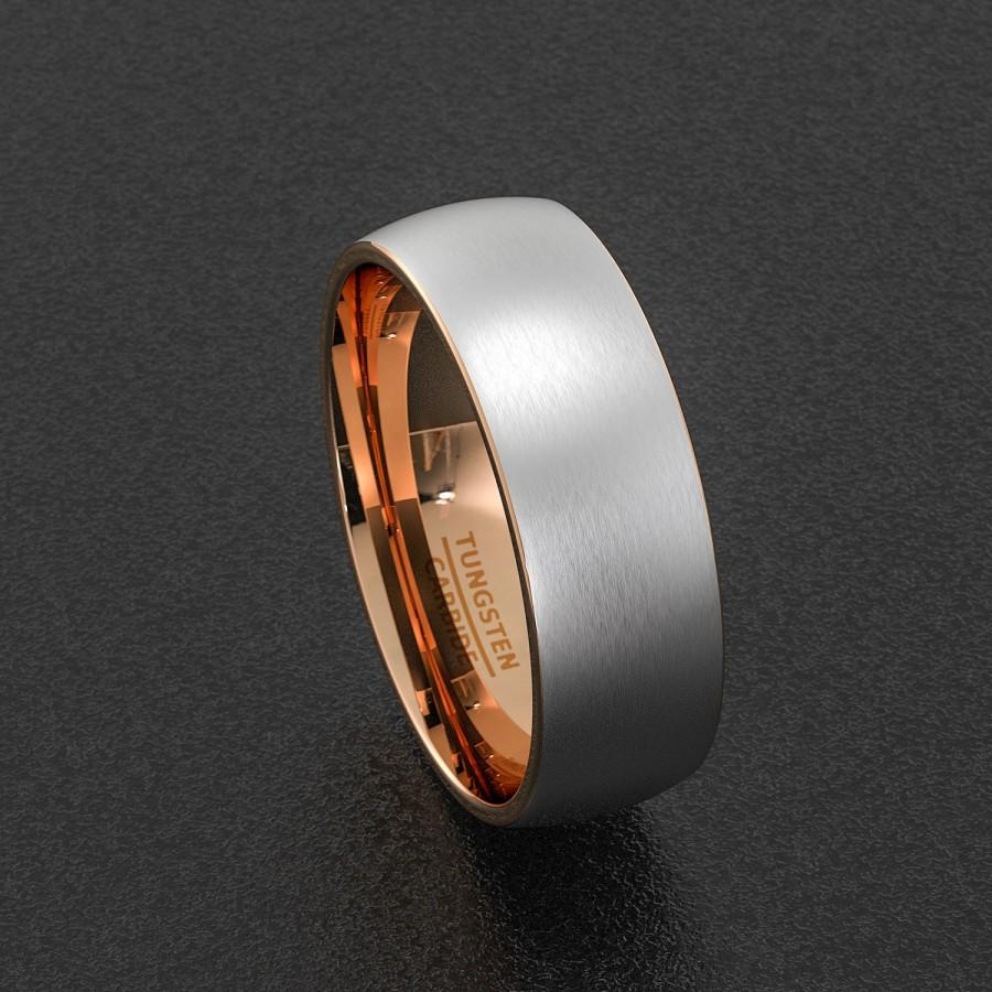 mens wedding band tungsten carbide with ceramic tungsten carbide wedding bands Hover to zoom