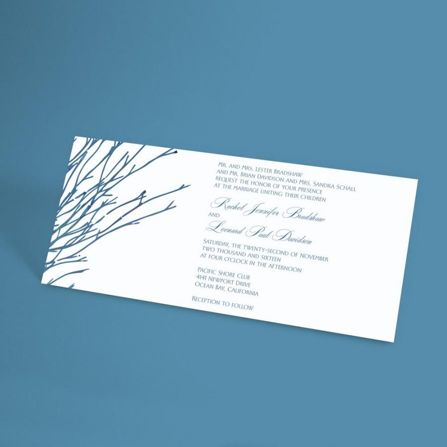 Winter Wedding Invitation Suite With Bare Forest Branches, Rustic ...