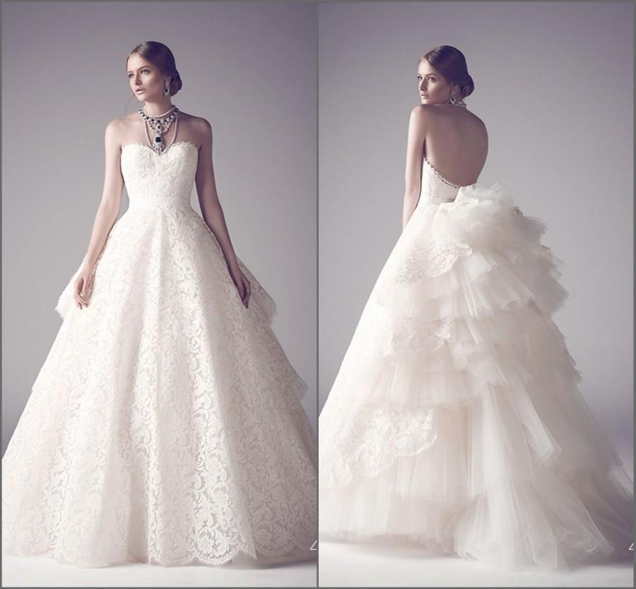 Hot 2016 Ashi Studio Modern Ivory Wedding Dresses Sexy Ball Gown Sweetheart Tiered Skirts Sweep