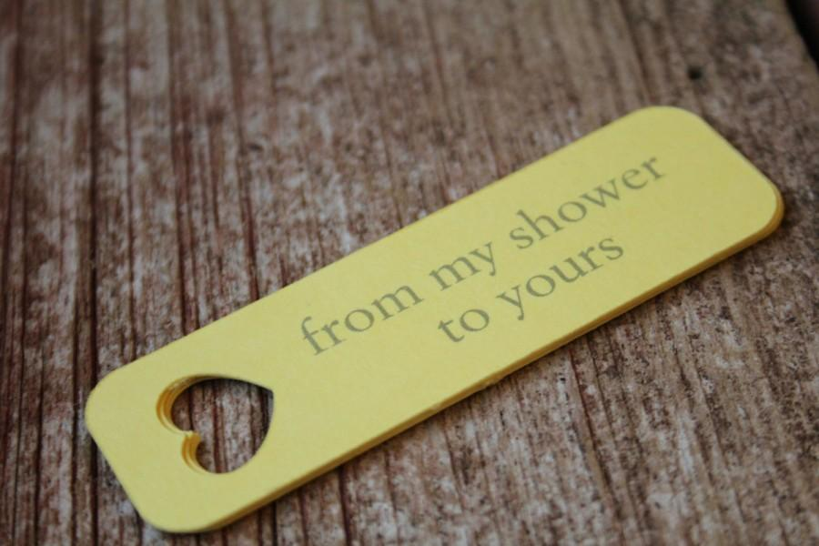 from my shower to yours bridal shower tag wedding favor tags bridal shower favor tag baby shower favor tag
