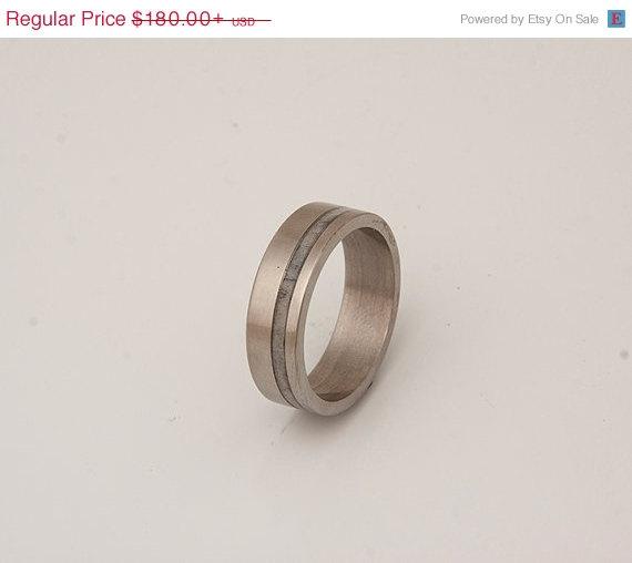 Hochzeit - titanium and antler wedding ring silver antler ring mens band