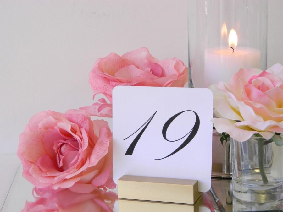 Hochzeit - Gold Wedding Table Card Holders- Set of 10