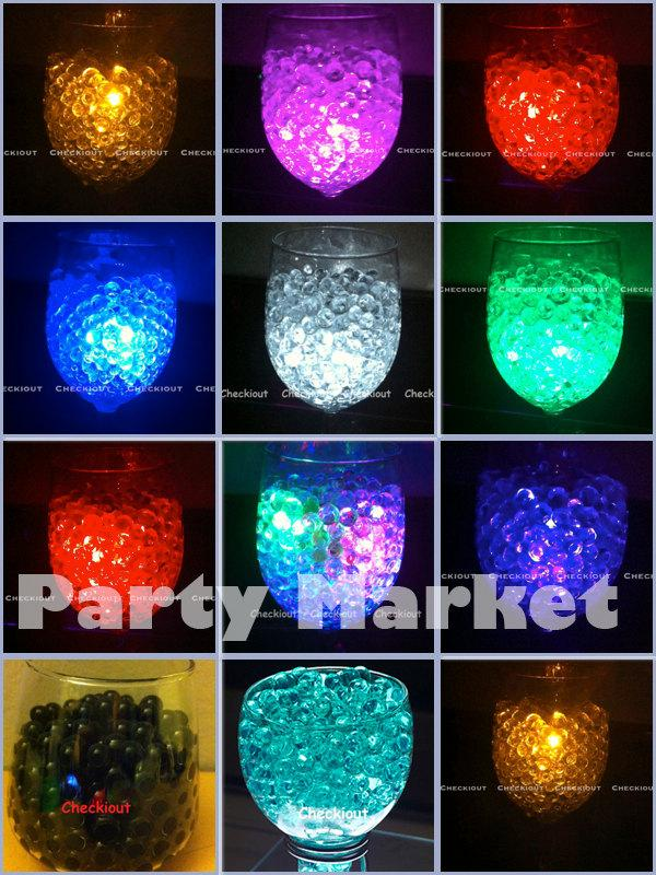 100g Water Bead 12pcs LED Decor Submersible Light Wedding Floral Centerpiece Eiffel Tower Vase Pearl Filler Table Scatter Party Supplies