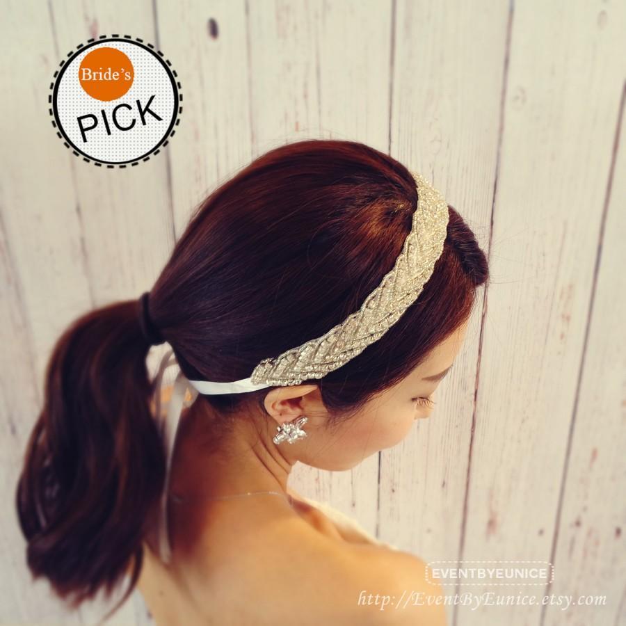 Mariage - Bridal Headpiece, wedding headpiece, bridal headband, wedding headband with comb, Prom, Prom Headband, Prom Headpiece KARA