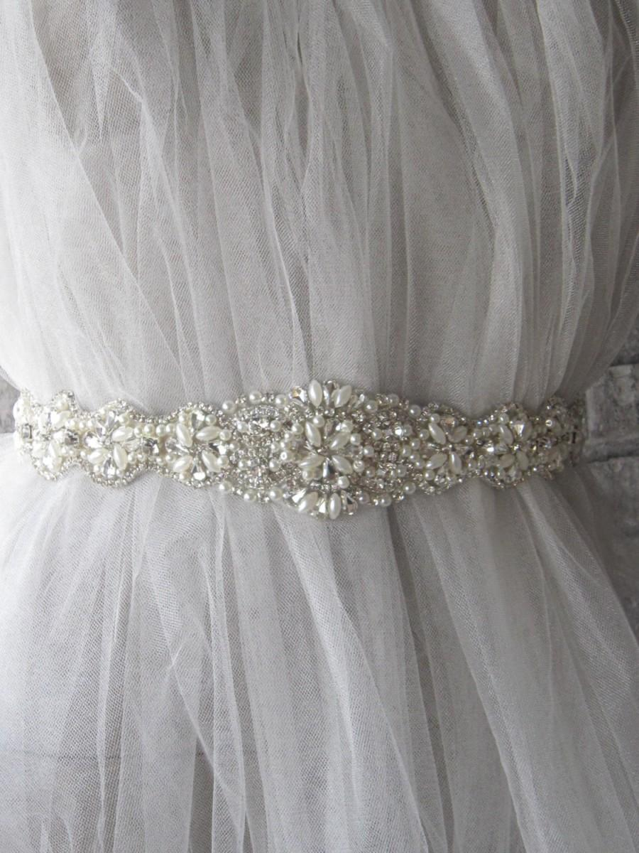 Bridal Sash Belt Rhinestones Bridal Belt Wedding Sash Belt