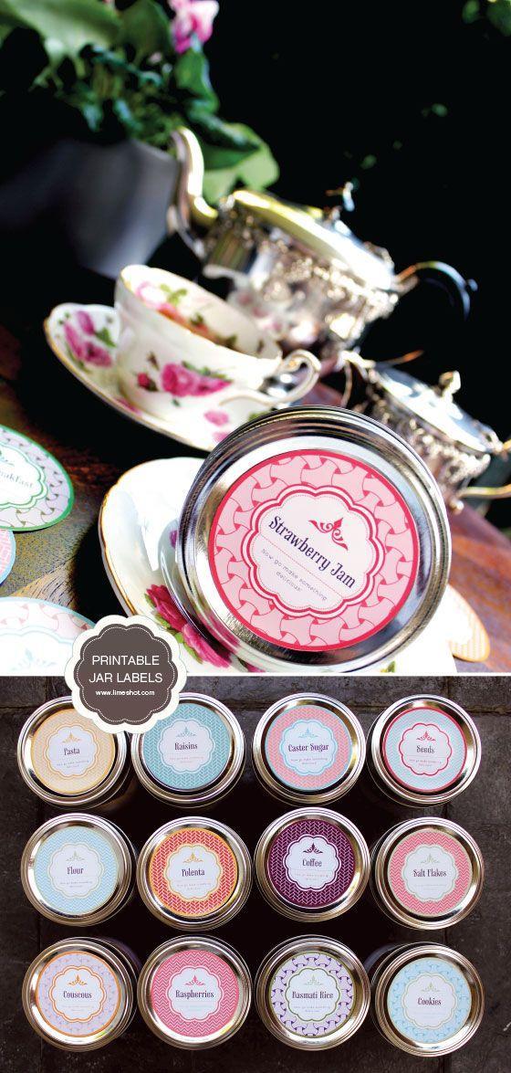 Wedding - Too Stinkin' Cute: Free Printable Mason Jar Labels