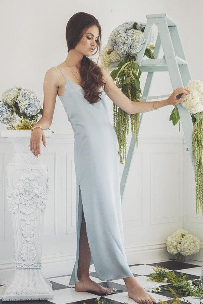 dress bridesmaid silk slip dress 2479277 weddbook