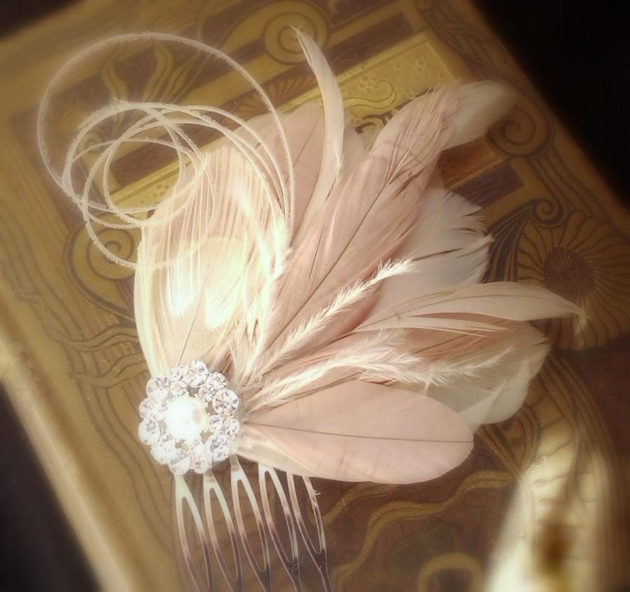 Wedding Feather Hair Fascinator 01efdfebd60