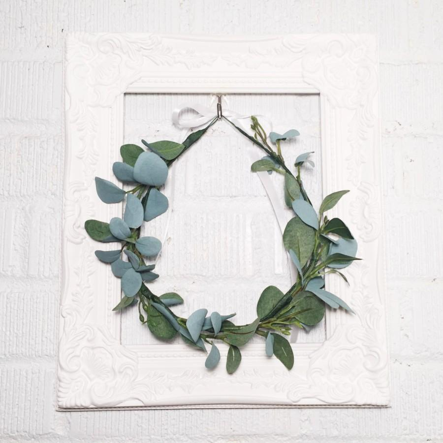Свадьба - Greenery Crown / Greenery Bridal Flower Crown / Bridesmaid Greenery Crown / Natural Flower Crown / High Quality Flower Crown