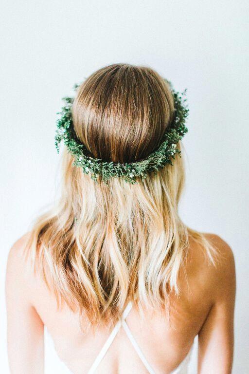 Свадьба - Evergreen Winter Flower Crown