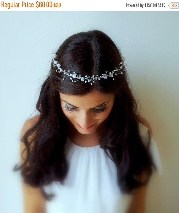 Свадьба - ON SALE Wedding Pearl Crown, Bridal Hair Accessories, Wedding Head Piece, Bridal Hairpiece, Wedding Tiara