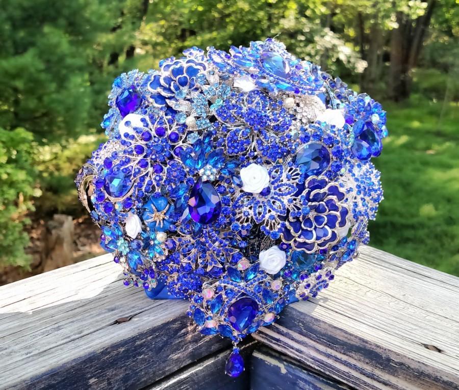 Mariage - Brooch Bouquet - Broach Bouquet - Crystal Bouquet - Wedding Bouquet - Bridal Bouquet - Keepsake Bouquet - Something Blue Bouquet - Deposit