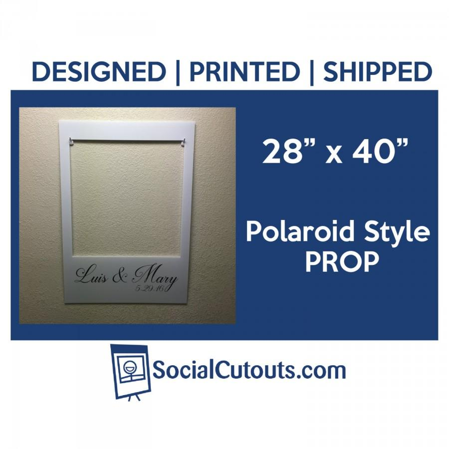 LARGE Printed & Shipped Polaroid Style Wedding Cutout Frame #2479379 ...