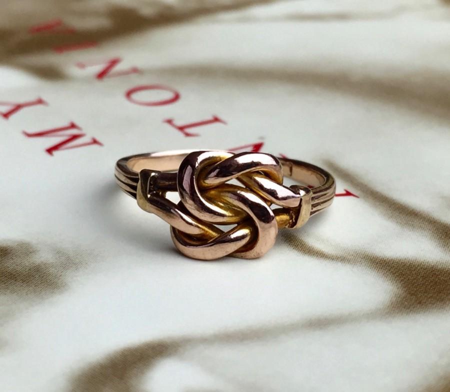 Antique British Victorian Love Knot Ring Alternative Engagement