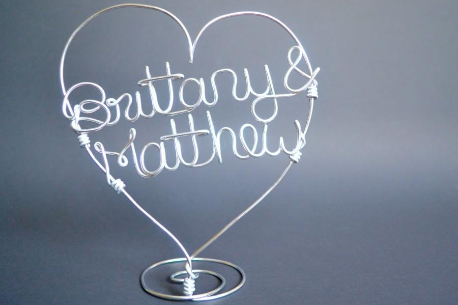 Свадьба - Custom Wire Cake Topper/Wire Wedding Cake Topper/Personalized Name Topper